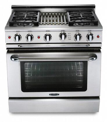 "Capital GSCR364QN 36"" PRECISION Series Gas Freestanding Range with Sealed Burner Cooktop, 4.6 cu. ft. Primary Oven Capacity, in Stainless Steel"