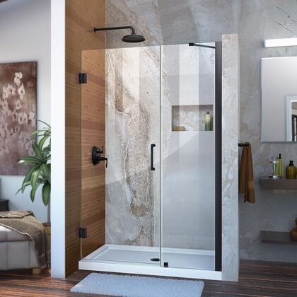 Unidoor Shower Door with Base 12 28D 18P support arm 09 72 WM 11 16