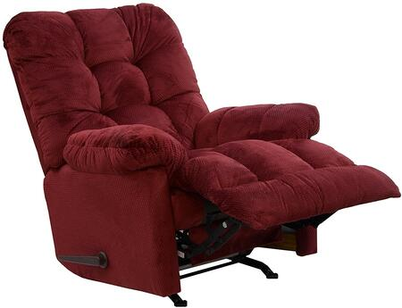 """Catnapper Nettles Collection 40"""" Chaise Rocker Recliner with 3 Speed Massage, Deluxe Multi-Level Heat, Button Tufted Back, Oversized Seating, Micro-Suede Fabric Upholstery"""