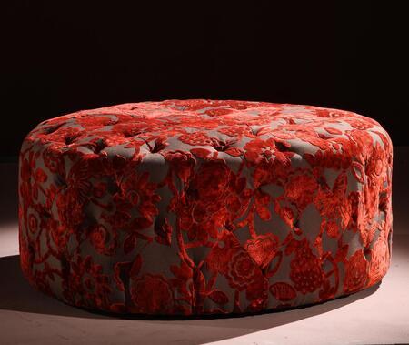 Armen Living LC5005OTRE Traditional Fabric Ottoman