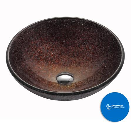 """Kraus CGV12MM1005ORB Multicolor Series 17"""" Round Vessel Sink with 12-mm Tempered Glass Construction, Easy-to-Clean Polished Surface, and Included Oil Rubbed Bronze Riviera Faucet"""