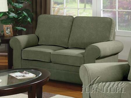 Acme Furniture 15216 Chantal Series Fabric Stationary with Wood Frame Loveseat