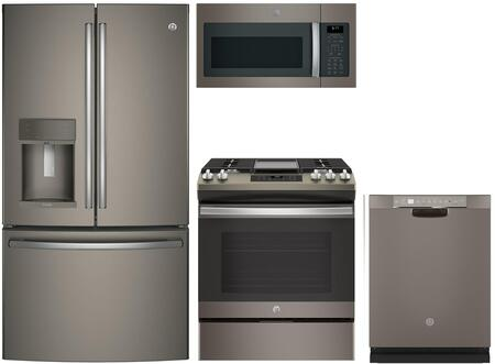 Ge Profile 988576 4 Piece Slate Kitchen Appliances Package