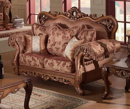 Meridian 696L Fabric Reclining with Wood Frame Loveseat