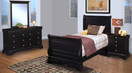 New Classic Home Furnishings 00013TYSBDMN Belle Rose Twin Be