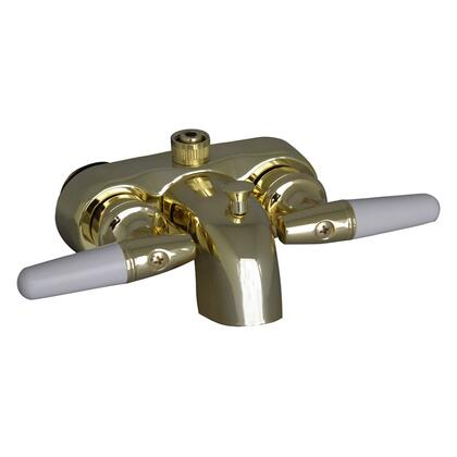 "Barclay 195-S Diverter Bathcock Spout, with 3/8"" Connection, Solid Construction, and Metal Handles"