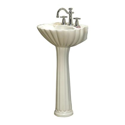 "Barclay 3-58 Bali Pedestal Lavatory, with Pre-drilled Faucet Hole, 5.75"" Basin Depth, and Vitreous China Construction"