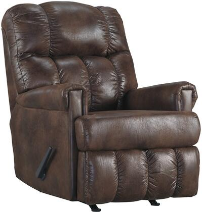 Signature Design by Ashley 4750125 Chipster Series Contemporary Faux Leather Metal Frame Rocking Recliners