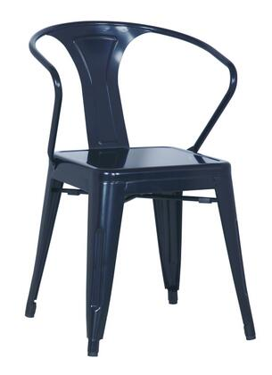 Chintaly 8023-SC Stackable Indoor and Outdoor Galvanized Steel Side Chair in