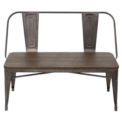 Lumisource Oregon Dining Bench Espresso