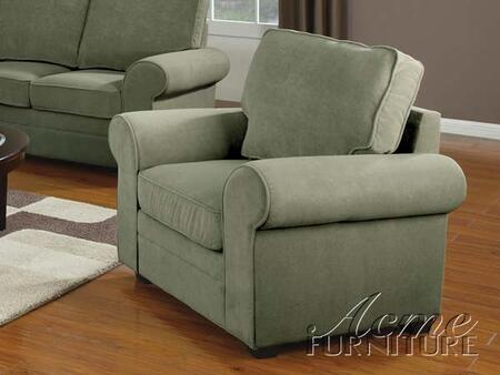 Acme Furniture 15217 Chantal Series Fabric with Wood Frame in Sage