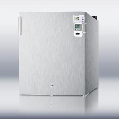 Summit FFAR22L7CSSMEDSC AccuCold Series  Compact Refrigerator with 1.6 cu. ft. Capacity, 1 Wire ShelfField Reversible Doors