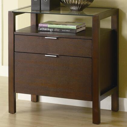 "Coaster 800942 26"" Wood Contemporary File Cabinet"