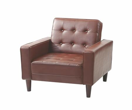 "Glory Furniture G800 Collection 36"" Chair Bed with Track Arms, Button Tufted Cushions, Tapered Legs, Removable Back/Arms and Upholstery"