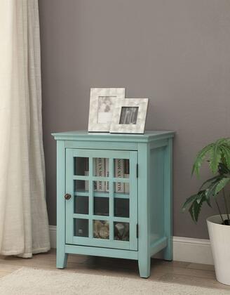 Linon Largo 650201TRQ01U Largo Antique Turquoise Single Door Cabinet Lifestyle