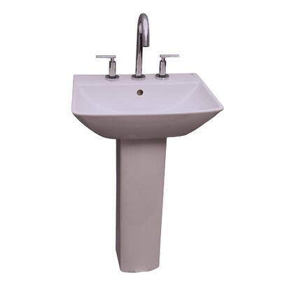 "Barclay 3-77WH Summit 600 Pedestal Lavatory, with Pre-drilled Faucet Hole, 5.625"" Basin Depth, and Vitreous China Construction"