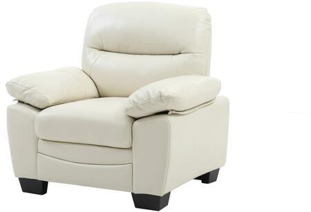 Glory Furniture G675C Faux Leather Armchair in Pearl