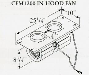 Prizer Hoods CFM1200INLINE