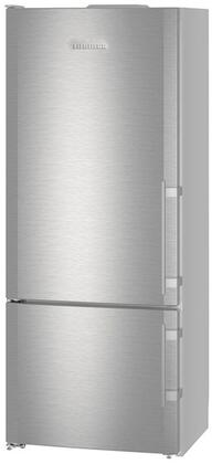 "Liebherr CS141 30"" Energy Star Rated Freestanding Bottom Freezer Refrigerator with 14.6 cu. ft. Total Capacity, DuoCooling, and 3 Glass Refrigerator Shelves, in Stainless Steel"