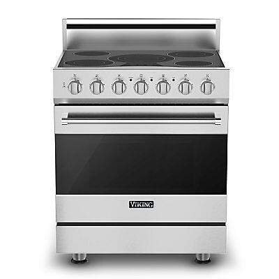 Viking RVER3305BSS  Stainless Steel Freestanding Range with Smoothtop Cooktop, 4.7 cu. ft. Primary Oven Capacity,