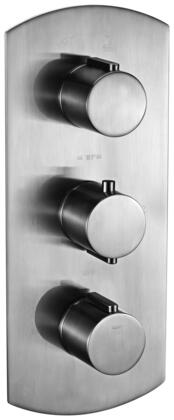 Alfi AB3901-XX Round 2 Way Thermostatic Shower Mixer with Brass, Round  Knobs, Sleek Modern Design, User-Friendly Installation, UPC Certification and  Diverter Knob in