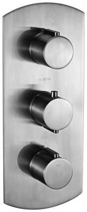 Alfi AB3901-XX Round 2 Way Thermostatic Shower Mixer with Brass, Round  Knobs, Sleek Modern Design, User-Friendly Installation, UPC Certification and  Diverter Knob in