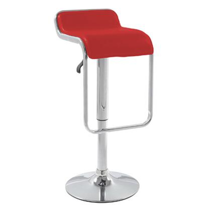 Fine Mod Imports FMI2124RED Commercial or Residential Leatherette Upholstered Bar Stool