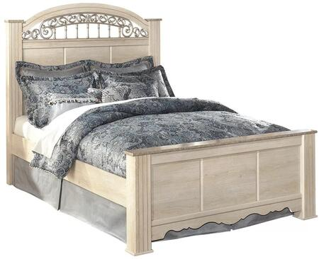 Milo Italia BR-284BED Conner Collection Traditional Size Panel Bed: Light Opulent Finish