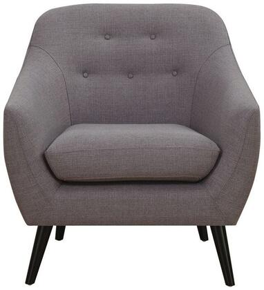 "Coaster Dawson Collection 32"" Arm Chair with Curved Barrel Shape, Button Tufted Back, Dark Brown Tapered Legs, Attached Seat Cushions and Linen-Like Fabric Upholstery in"