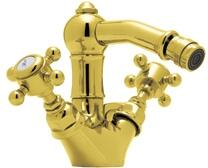 Rohl A1434XC Italian Country Bath Collection Acqui Single-Hole Bidet Faucet with Swarovski Crystal Cross Handles in