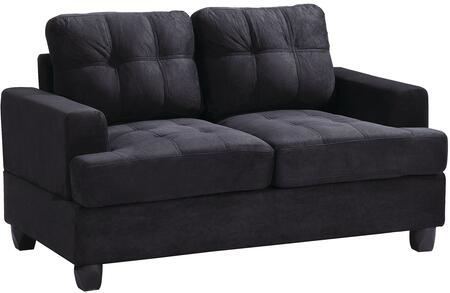 Glory Furniture G515AL Suede Stationary Loveseat