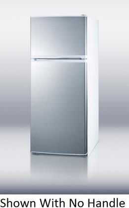 Summit FF1620WHSSIMTB  Refrigerator with 15.8 cu. ft. Capacity in Stainless Steel