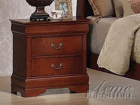 Acme Furniture 09807 Louis Philippe II Series Rectangular Wood Night Stand
