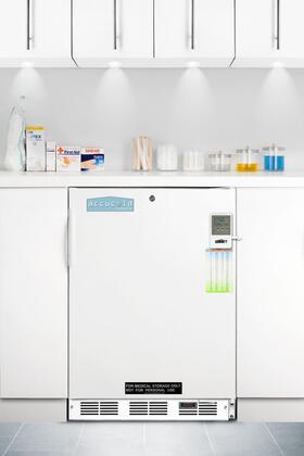 Summit FF7LBIMEDSCADA  Freestanding Counter Depth Compact Refrigerator with 5.5 cu. ft. Capacity, 3 Glass Shelves