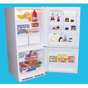Haier HBE18WADWW  Bottom Freezer Refrigerator with 17.6 Capacity in White