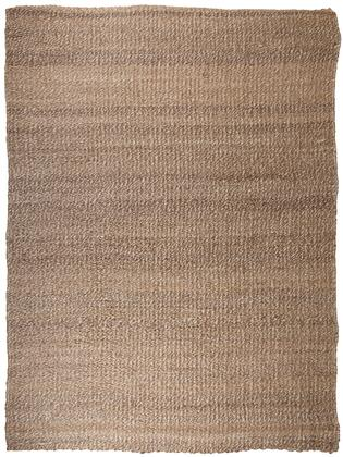 """Milo Italia Willie RG440611TM """" x """" Size Rug with Hand-Tucked Ends, Hand-Woven Made, Made in India, Jute Material, Indoor Use and Spot Clean Only in Tan and White Color"""