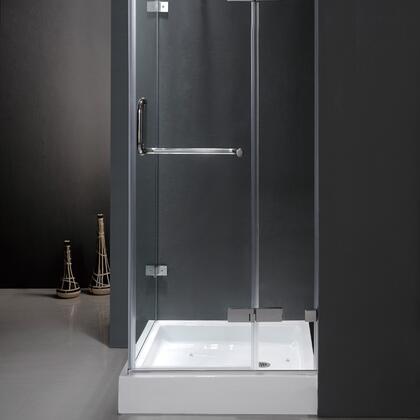"Vigo VG6011XXCL363W 36"" x 36"" Frameless 3/8"" Shower Enclosure with Base:"