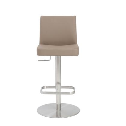 Euro Style 04367TPE Skyler Series Residential Faux Leather Upholstered Bar Stool