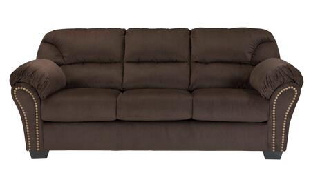 "Milo Italia Madison MI-9042TMP 91"" Stationary Fabric Sofa with Plush Padded Arms, Nail-Head Accents and Divided Back Cushions in"