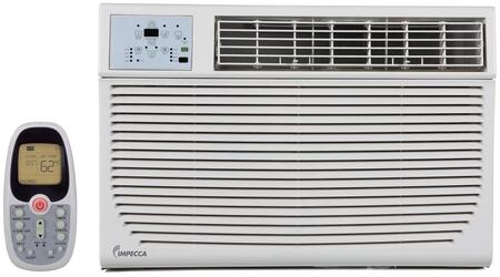Impecca IWAHxKRx Electronic Controlled Slide Out Air Conditioner with Electric Heat, 4 Way Air Direction, Auto Restart, Remote, Clean Filter Indicator, Installation Kit, 24 Hour Delay, 3 Cooling Speeds, 3 Fan Speeds, 10.9 EER, 10.9 CEER and Energy Star in, White