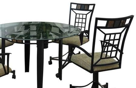 Acme Furniture 08290 Douglas Series Transitional Microfiber Metal Frame Dining Room Chair