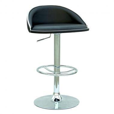 Chintaly 0388ASBLK  Bar Stool