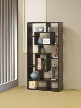 Coaster 800259  Wood 8 Shelves Bookcase