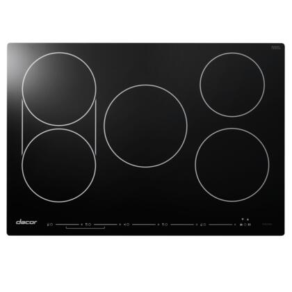 Dacor DYTT3X5NB Discover Series TouchTop Induction Cooktop with 5 Elements, SenseTech Induction Technology, Hot Zone Warning, Power Boost, and Child Lock: Black