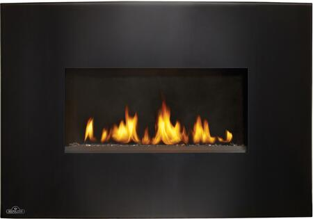 "Napoleon Plazmafire VF24 Series WHVF24 24"" Vent Free Natural Gas or Propane Fireplace with Electronic Ignition, Up to 9,000 BTU's, Pan Style Burner, Curved Glass Front and Catalytic Filtering Tiles"