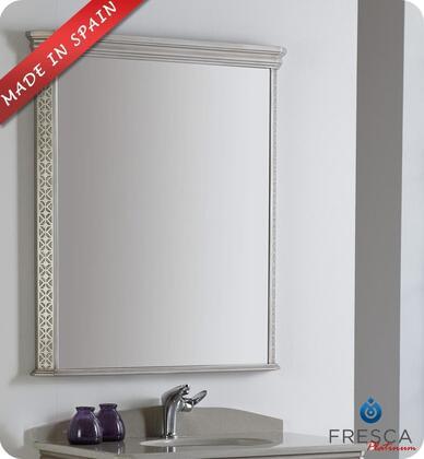 "Fresca Platinum London FPMR752XSA XX"" Bathroom Mirror with Antique Silver Finish and Fog-Free System"