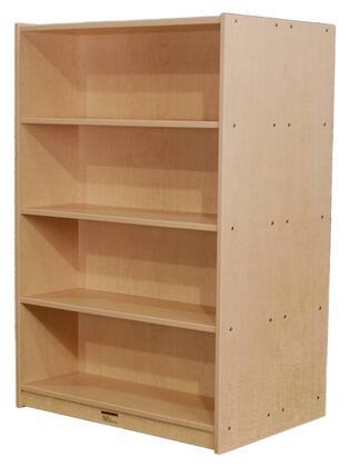 Mahar M48DCASENV Wood 3 Shelves Bookcase