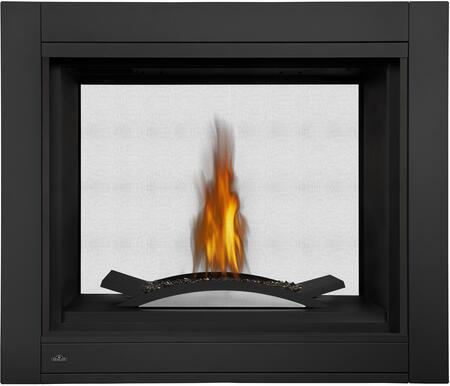 "Napoleon Ascent Multi-View Series BHD4 XX"" 2-Sided See Thru or 3-Sided Peninsula Direct Vent Natural Gas Fireplace with Burner, Up to 30,000 BTU's, Electronic Ignition, Standard Safety Barrier, Back-Up Control System, and Tempered Heat Resistant Glass"