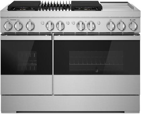 Jenn-Air NOIR JDRP748HM 48-INCH DUAL-FUEL PROFESSIONAL RANGE WITH GRIDDLE AND GAS GRILL