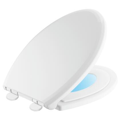 Sanborne  833902-N-WH Delta Sanborne: Elongated Slow-Close / Quick-Release Nightlight Family Seat in White